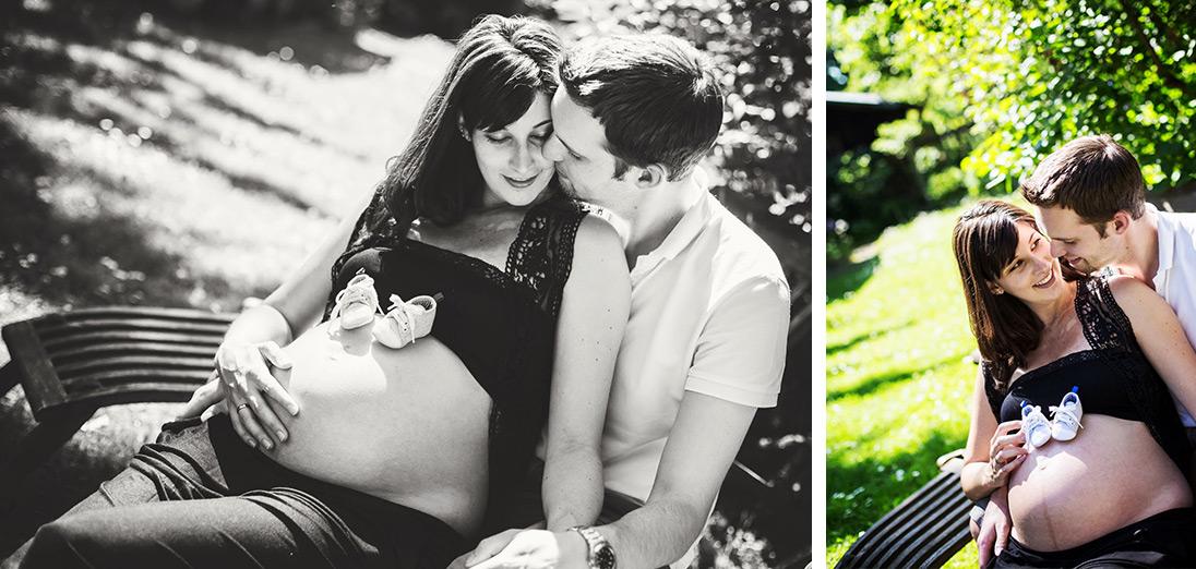 Babybauch Fotos Babybauchshooting Fotograf zu Hause in München Schwangerschaftsfotos