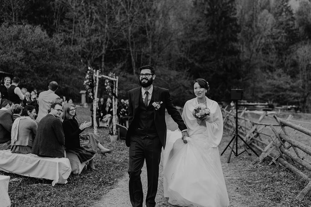 Brautpaar Ausmarsch