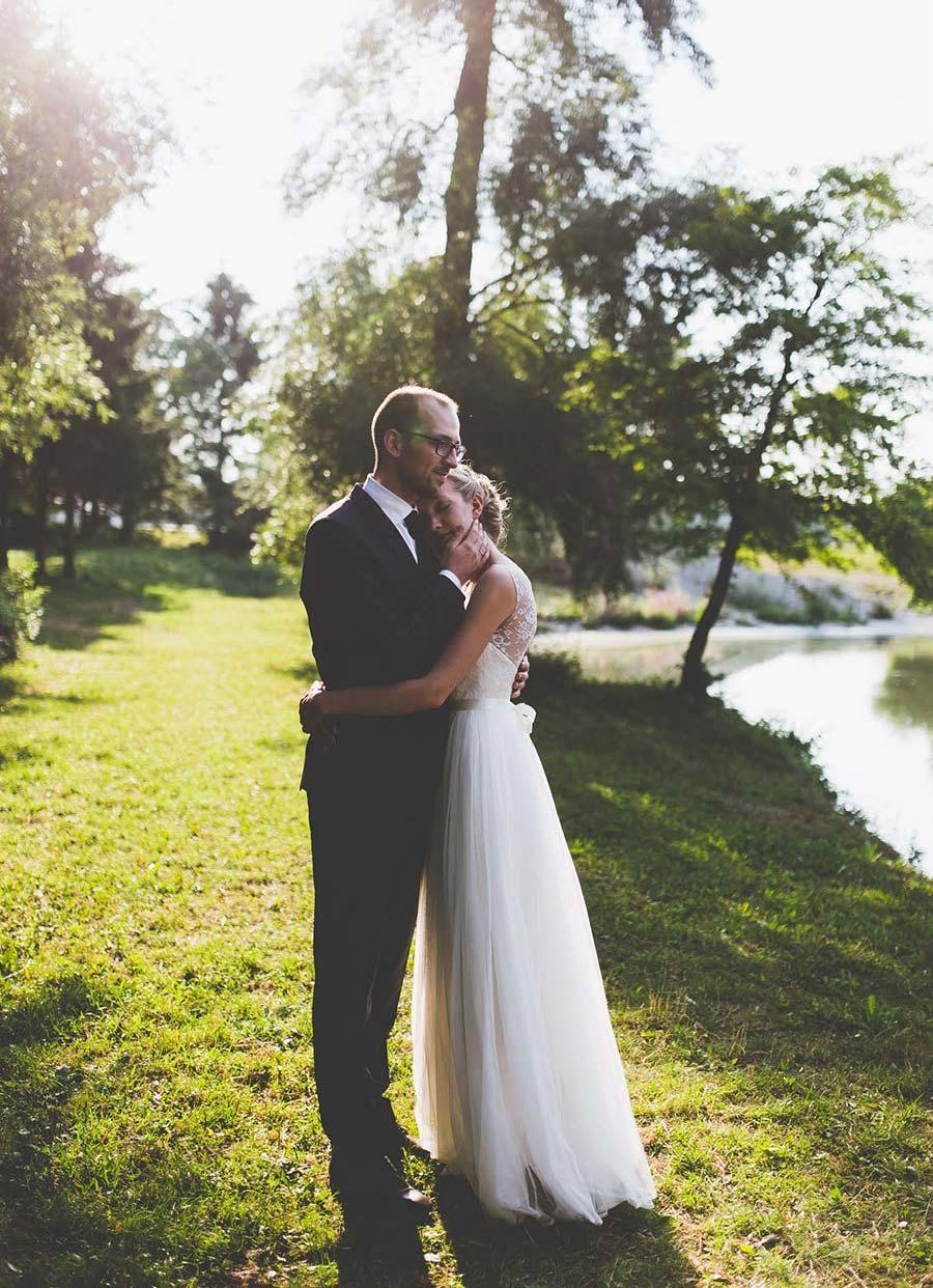 Hochzeit am see nahe augsburg