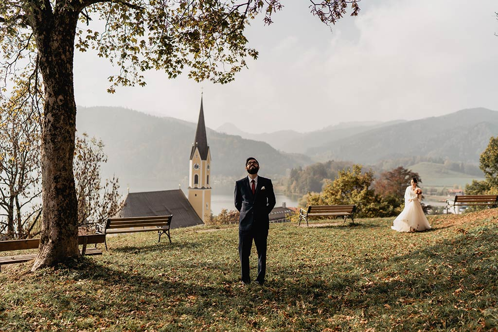 First Look Sankt Georgs Kapelle Schliersee